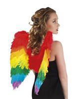 Engelen vleugels gevouwen regenboog (50x50cm)