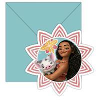 6 Vaiana uitnodigingen en enveloppen