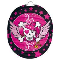 Lampion Pink Pirate Girl - Bolvorm 22cm