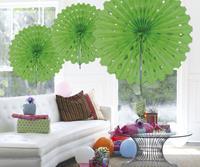 Honeycomb waaier 45cm groen