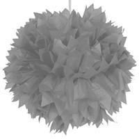 Folat pompom 30 cm papier zilver