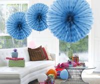Honeycomb waaier 45cm lichtblauw