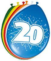20 jaar ballonnen 8 stuks