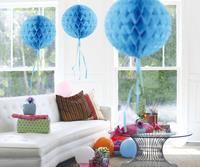 Honeycomb decoratie 30cm lichtblauw