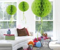 Honeycomb decoratie 30cm lichtgroen