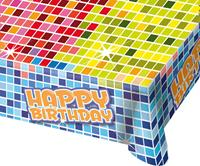Tafelkleed Happy Birthday Blocks