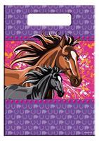 Feestzakjes paarden paars roze