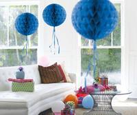 Honeycomb decoratie 30cm donkerblauw