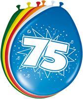 Ballonnen 75 jaar 8 stuks