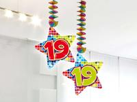 19 jaar hangdecoratie blocks