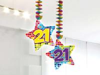 Hangdecoratie 21 jaar blocks