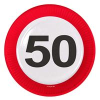 Bordjes 50 jaar verkeersbord