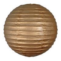 Fun & Feest Gouden bol lampion 25 cm