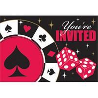 Fun & Feest Speelkaarten uitnodiging