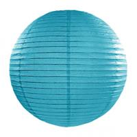 Fun & Feest Turquoise blauwe lampion rond 35 cm