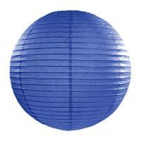 Fun & Feest Donker blauwe lampion rond 35 cm