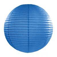 Fun & Feest Blauwe lampion rond 35 cm