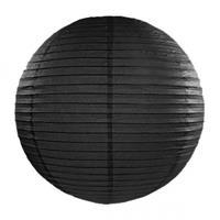 Fun & Feest Zwarte lampion rond 35 cm