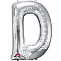 Anagram Mega grote zilveren ballon letter D