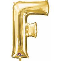 Anagram Mega grote gouden ballon letter F