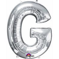 Anagram Mega grote zilveren ballon letter G