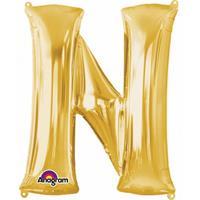 Anagram Mega grote gouden ballon letter N