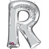 Anagram Mega grote zilveren ballon letter R