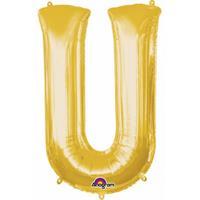 Anagram Mega grote gouden ballon letter U