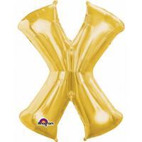 Anagram Mega grote gouden ballon letter X