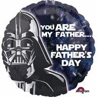 Folie vaderdag ballon Star Wars 43cm