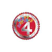 Fun & Feest 4 jaar helium ballon