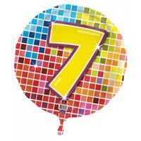 Gekleurde folie ballon 7 jaar