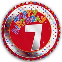 Fun & Feest 7 jaar helium ballon