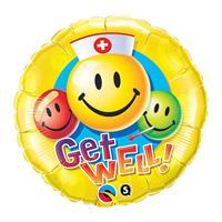 Folat Beterschap folie ballonnen smiley
