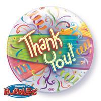 Fun & Feest Gekleurde folieballon thank you