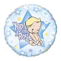 Folat Geboorte ballon Yep! I am a boy