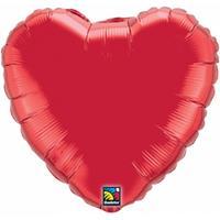 Qualatex Helium folie ballon rood hart 45 cm