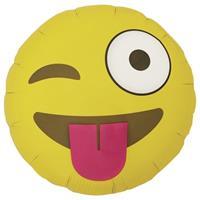 Fun & Feest Folie ballon knipoog smiley 46 cm