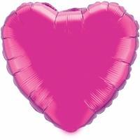 Fun & Feest Folie ballon fuchsia hart 52 cm
