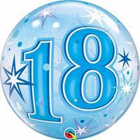 Qualatex 18 jaar geworden folie ballon 55 cm met helium