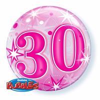Qualatex 30 jaar geworden folie ballon 55 cm met helium