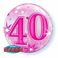 Qualatex 40 jaar geworden folie ballon 55 cm met helium