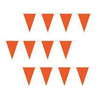 Fun & Feest Goedkope oranje vlaggenlijn 10 m