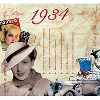 Fun & Feest Verjaardag CD-kaart met jaartal 1934