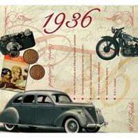 Fun & Feest Verjaardag CD-kaart met jaartal 1936