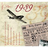 Fun & Feest Verjaardag CD-kaart met jaartal 1939