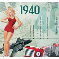 Fun & Feest Verjaardag CD-kaart met jaartal 1940