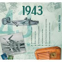 Fun & Feest Verjaardag CD-kaart met jaartal 1943