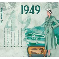 Fun & Feest Verjaardag CD-kaart met jaartal 1949
