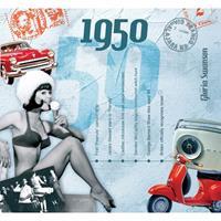 Fun & Feest Verjaardag CD-kaart met jaartal 1950